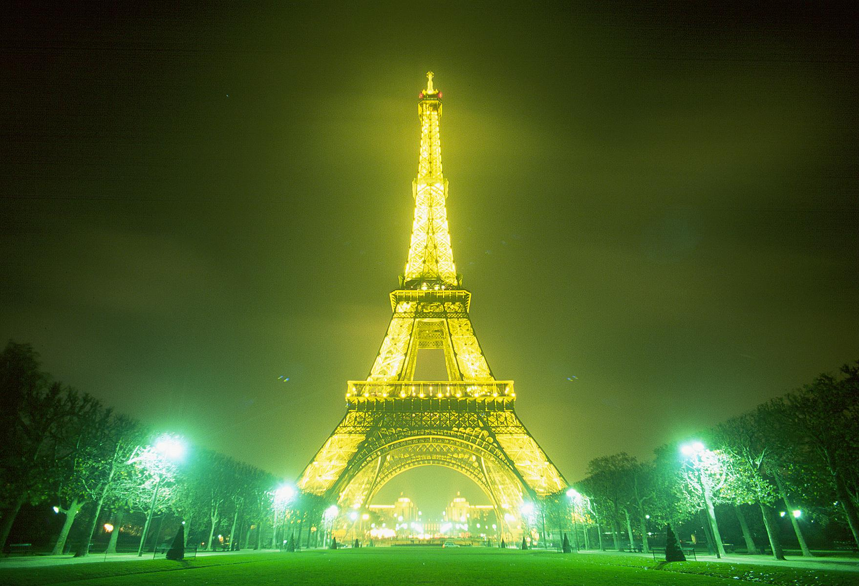 Paris Eiffel Tower at Night